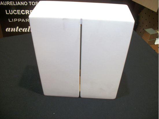 Applique a parete da interni quadrato in gesso bime ingrosso e