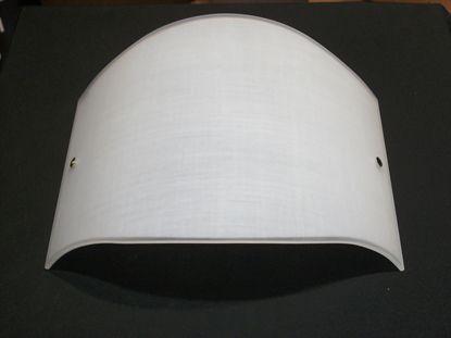 Immagine di Applique A Parete In Vetro Bianco Decorato Tipo Tessuto Con Fermavetro Nichel