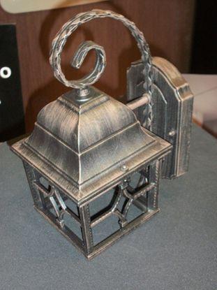 Picture of Applique A Parete Per Esterno Stile Rustico Color Marrone Antico E Vetri Diffusori