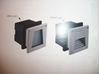 Immagine di Applique Da Incasso A Parete In Alluminio Pressofuso E Ottica Asimmetrica