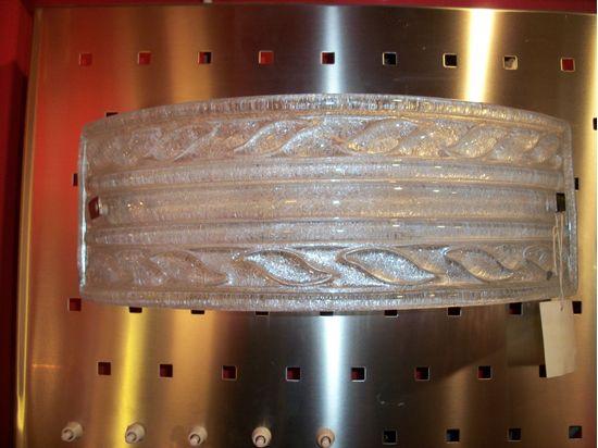 Applique da parete in cristallo trasparente e struttura in metallo