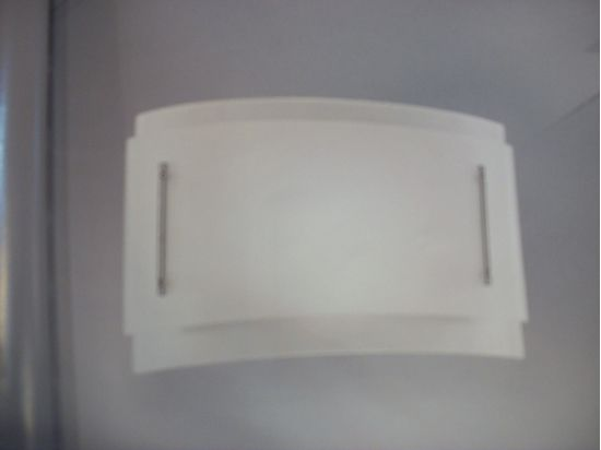 Immagine di Applique Da Parete In Vetro Bianco Extra Chiaro E Particolari In Metallo Cromato