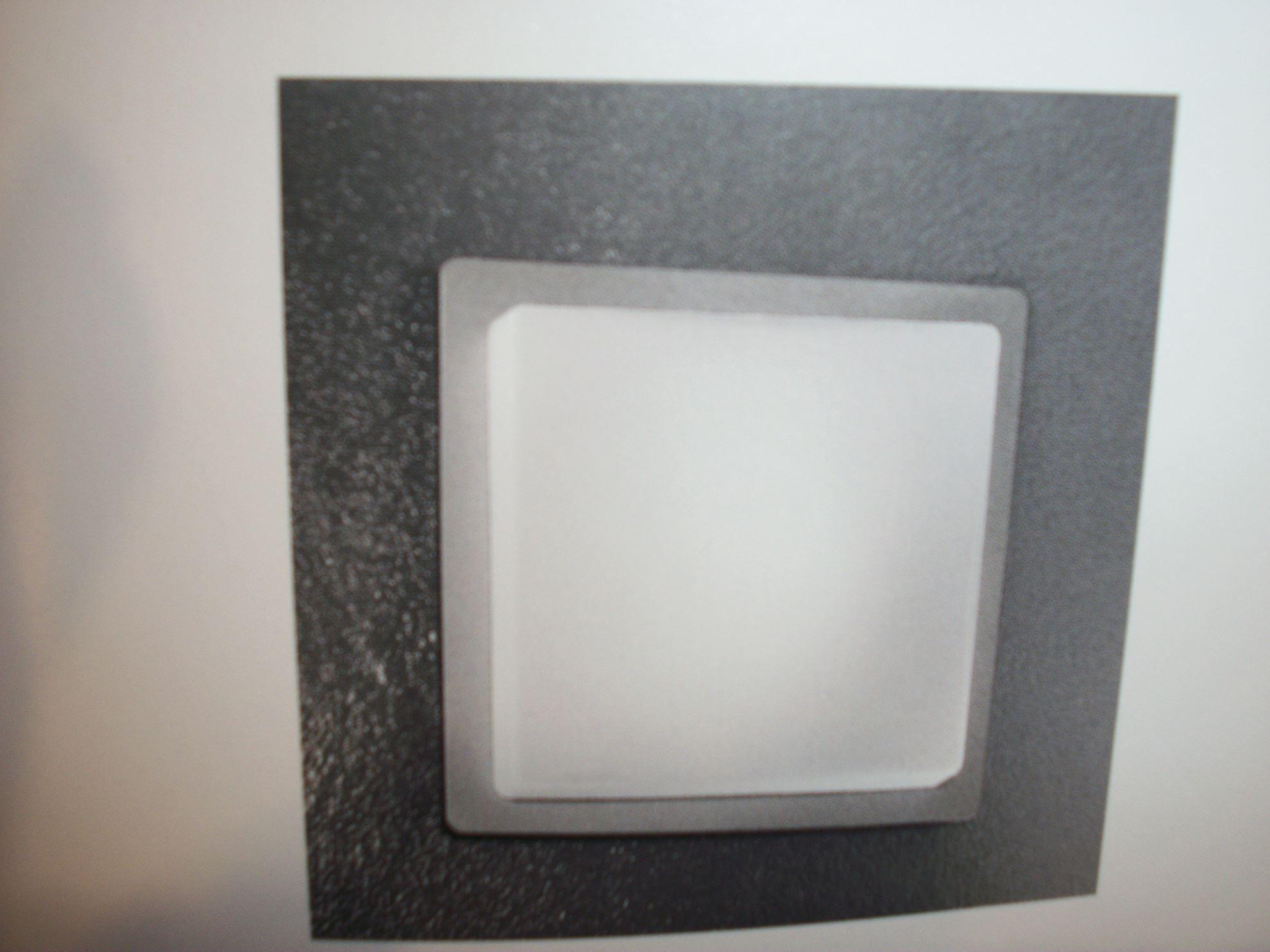 Applique da parete o da soffitto in vetro soffiato opalino bianco