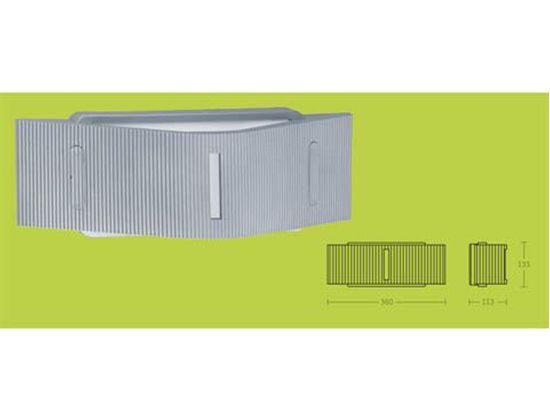 Applique da parete per esterni con corpo e diffuosre in alluminio