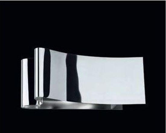 Applique da parete per interni in metallo cromato biemissione. bime