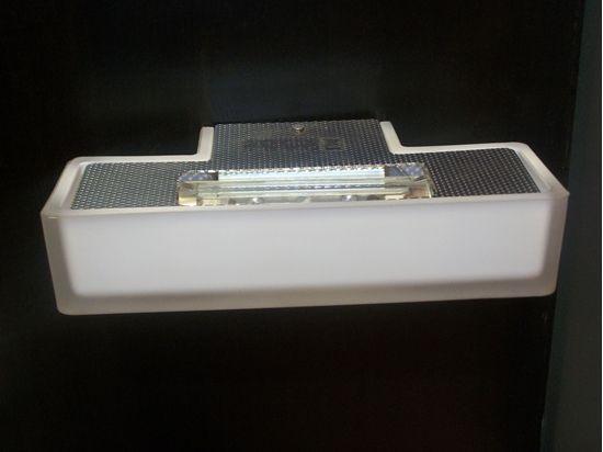 Applique da parete per interni rettangolare in vetro bianco bime