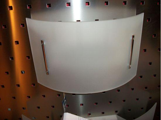 Applique da parete per interno in vetro curvato extra chiaro e