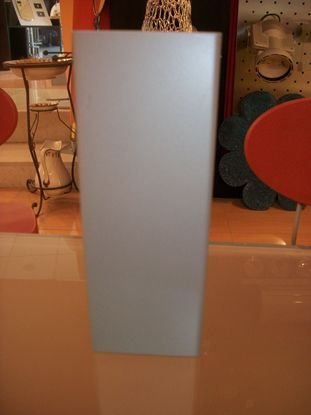 Immagine di Applique Da Parete Squadrato Color Alluminio Luce Diretta - Indiretta