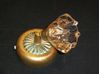 Immagine di Applique Da Parete Stile Classico Con Montatura In Metallo Decorato A Mano E Vetro Cristallo Ambra
