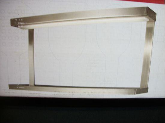 Applique da parete tipo mensola in acciaio satinato con diffusore