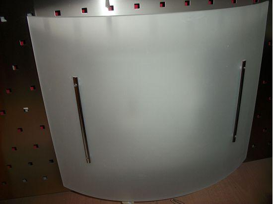 Plafoniere Da Interni : Applique plafoniera da interno in vetro satinato bianco e