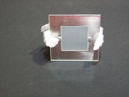 Immagine di Faretto Da Incasso A Soffitto Per Interni Quadrato Con Cornice Cromo Satinato E Vetro Satinato