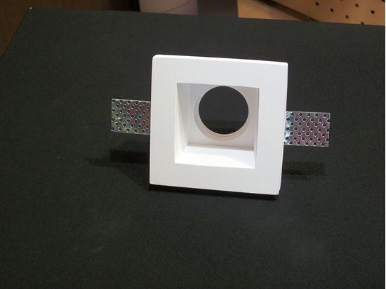 Faretto da incasso a soffitto per interni quadrato in gesso con