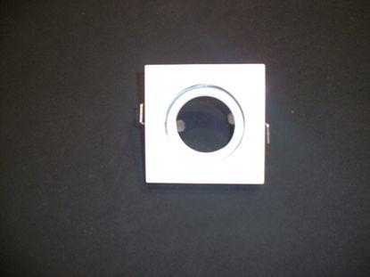 Picture of Faretto Da Incasso A Soffitto Per Interno Quadrato In Metallo Bianco