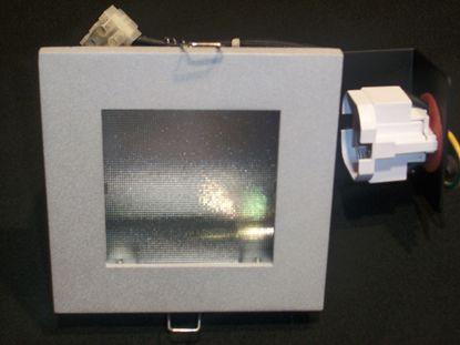 Immagine di Faretto Da Incasso A Soffitto Quadrato Con Cornice Alluminio E Vetrino Trasparente A Nido D'ape