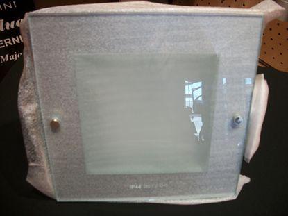 Picture of Faretto Da Incasso A Soffitto Quadrato Con Vetro E Finitura In Metallo Bianco