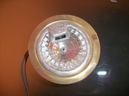 Immagine di Faretto Da Incasso Per Mensoloni Tondo In Metallo Verniciato Oro