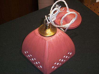 Immagine di Lampada A Sospensione  Per Interni In Gesso Color Rosa