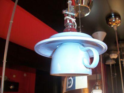 Picture of Lampada A Sospensione A Forma Di Tazza Da Caffe' Color Azzurro