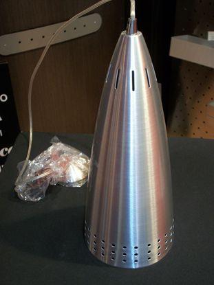 Immagine di Lampada A Sospensione Per Interni In Alluminio Spazzolato Traforato
