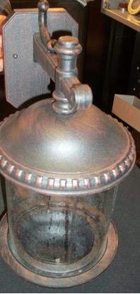 Immagine di Lanterna A Parete Per Esterni Color Ruggine E Vetro -0589391837-