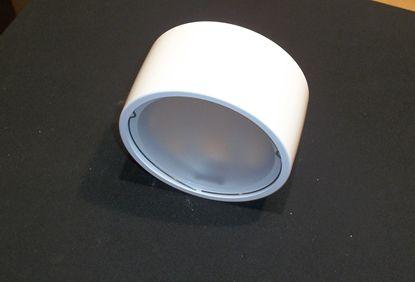 Immagine di Plafone Per Interni In Metallo Verniciato Bianco E Vetro Satinato