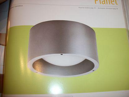 Picture of Plafone Per Interno Ed Esterno In Plastica Argento E Vetro