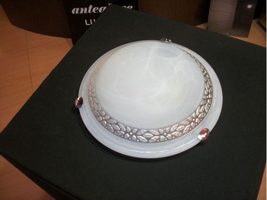 Plafoniere In Vetro Satinato : Sonar plafoniera vetro satinato con decorazione globo