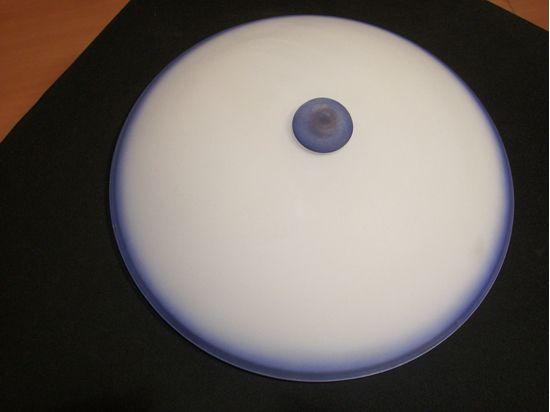 Plafoniere Vetro Blu : Plafoniera a soffitto per interni tonda in vetro satinato riporti
