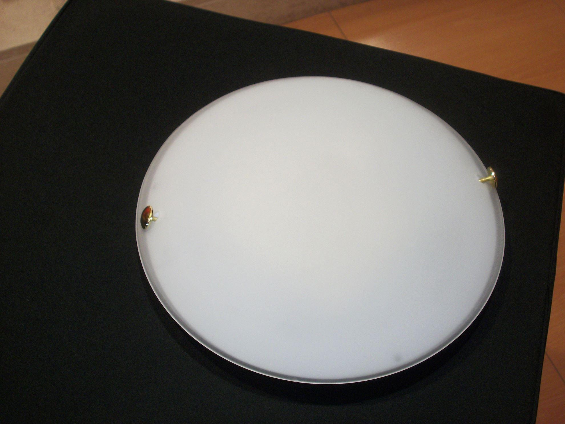 Plafoniere Vetro : Prolight  plafoniera quadrata vetro led w metallo