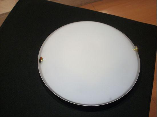 Ganci Per Vetro Plafoniere : Plafoniera a soffitto per interno tonda in vetro bianco e ganci