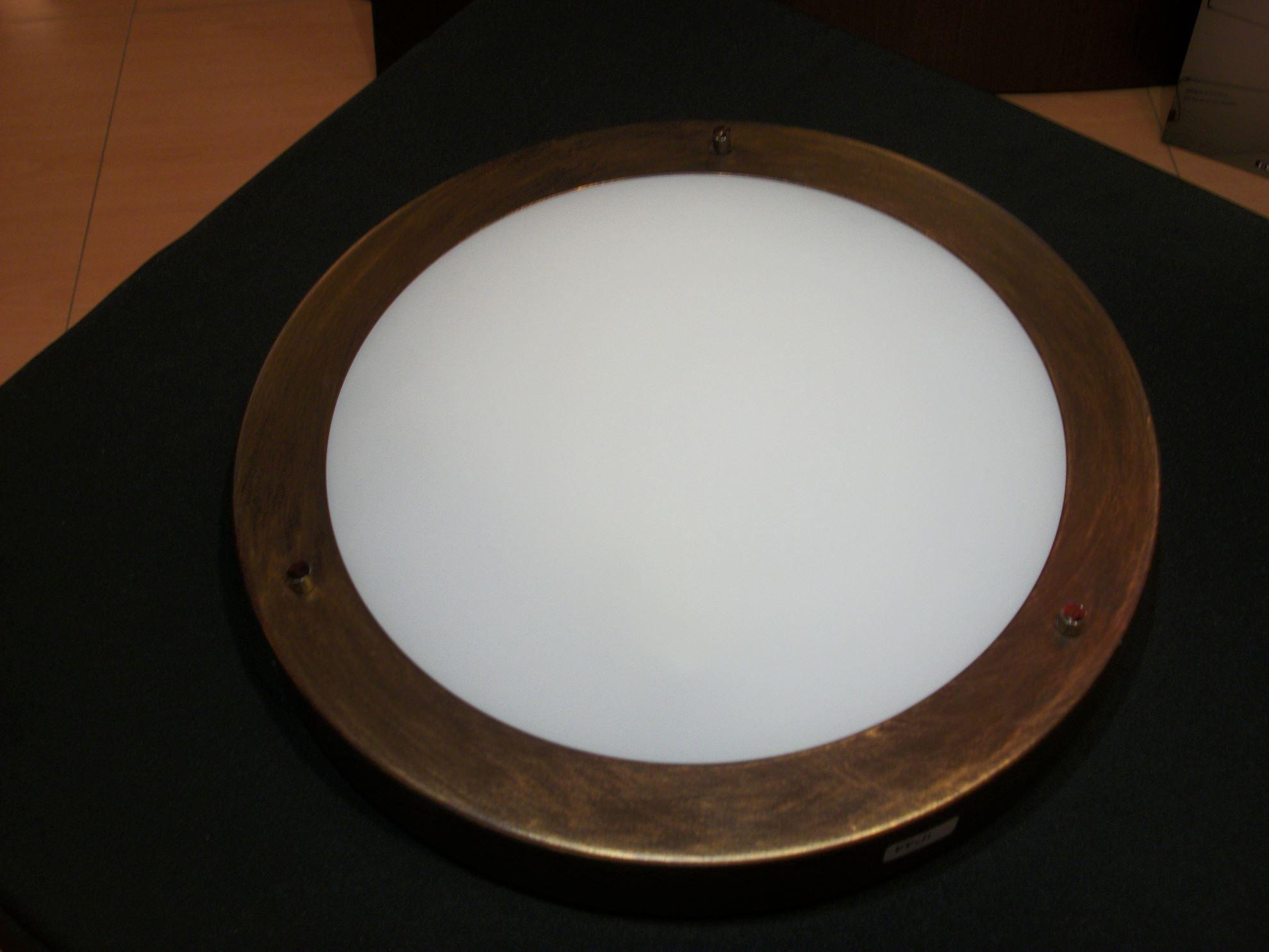 Plafoniere Da Esterno A Soffitto : Plafoniera a soffitto per interno esterno tonda in vetro bianco con