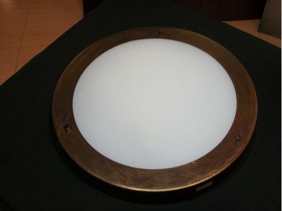 Plafoniere Tonde Da Esterno : Plafoniera a soffitto per interno esterno tonda in vetro bianco con