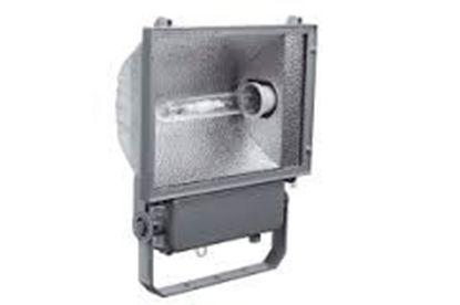 Immagine di Proiettore Da Esterni Con Staffa In Metallo Grigio