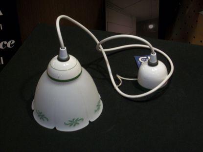 Immagine di Sospensione In Ceramica E Vetro Decorato A Mano Verde