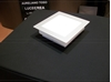 Immagine di Applique/plafoniera A Soffitto In Vetro Opale Soffiato E Cornice Grigio Alluminio