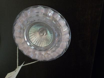 Immagine di Faretto Da Incasso Per Controsoffitti Dalla Forma Rotonda In Vetro Cristallo Lavorato - Trasparente Itre -sd888-