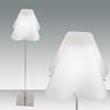 Immagine di Piantana Con Diffusore In Vetro Bianco E Struttura E Base In Acciaio Satinato