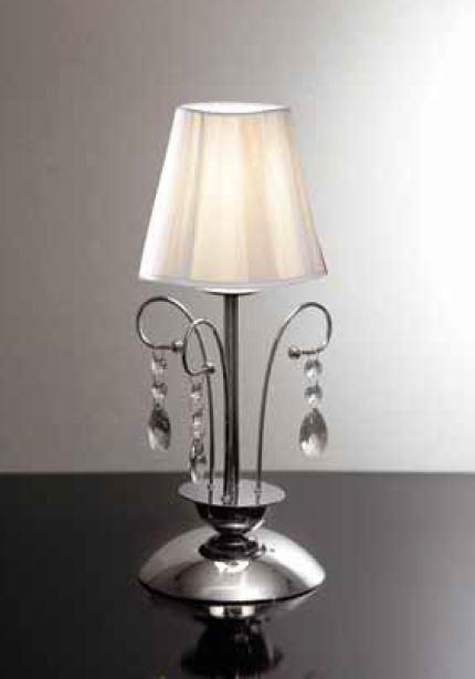 Lampada da tavolo con paralume in tessuto e base in - Base per lampada da tavolo ...