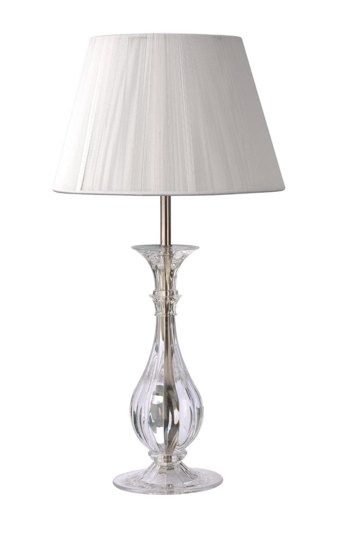 Lampada da tavolo con paralume in tessuto e base in vetro bime ingrosso e dettaglio materiale - Base lampada da tavolo ...