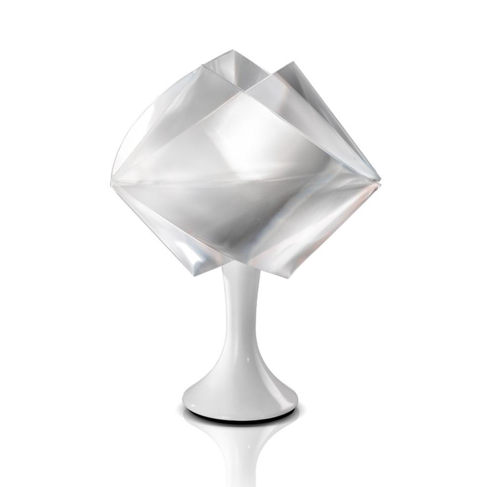 Lampada da tavolo con paralume plastificato e base in metallo bianco bime ingrosso e - Lampada da tavolo con pinza ...