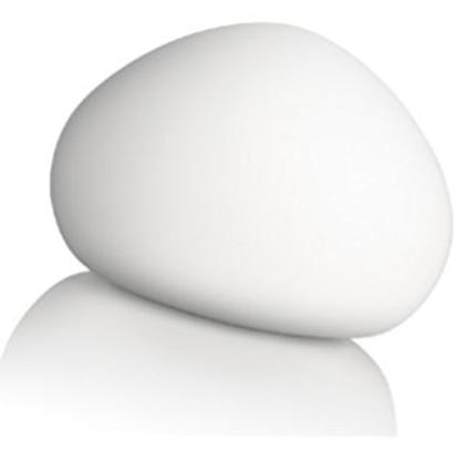 Immagine di Lampada Da Tavolo In Vetro Bianco A Forma Di Sasso