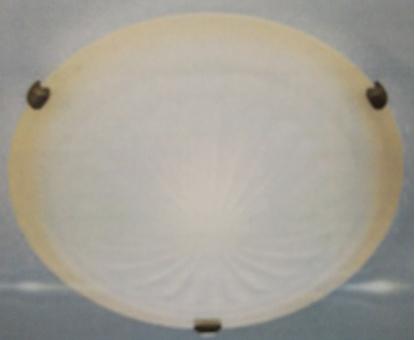 Immagine di Plafoniera Da Soffitto Per Interno Tonda In Vetro Ambra