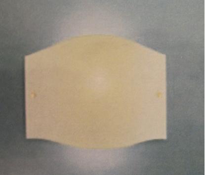 Picture of Applique A Parete In Vetro Avorio Liscio Con Fermavetro Nichel