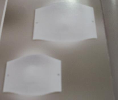 Immagine di Applique A Parete In Vetro Bianco Liscio Con Fermavetro Nichel