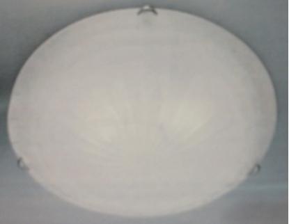Immagine di Plafoniera Da Soffitto Per Interno Tonda In Vetro Bianco