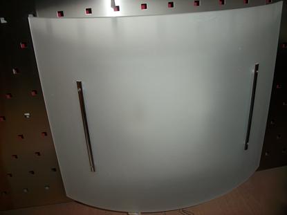 Immagine di Applique/plafoniera Da Interno In Vetro Satinato Bianco E Fermavetro In Metallo Cromato