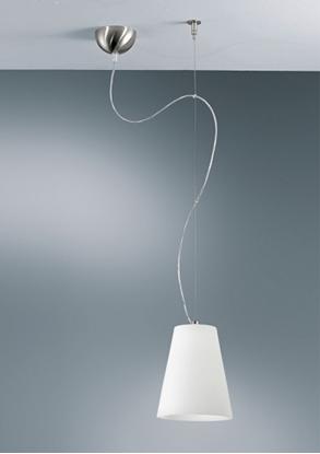 Immagine di Lampada A Sospensione In Vetro Bianco Satinato