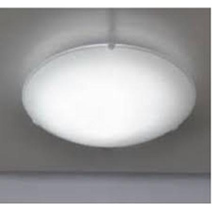 Immagine di Plafoniera Da Soffitto Tonda In Vetro Bianco Satinato
