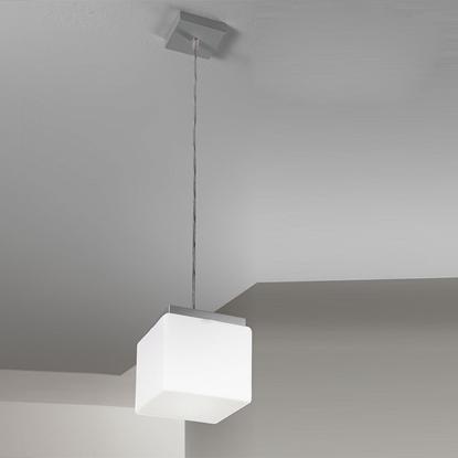 Immagine di Lampada A Sospensione In Vetro Bianco